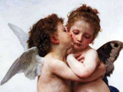 The First Kiss by William Bouguereau