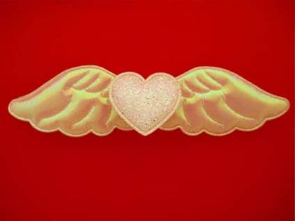 Heart with angel wings