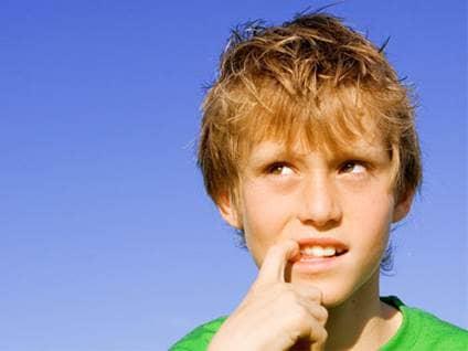 boy deciding to tell the truth