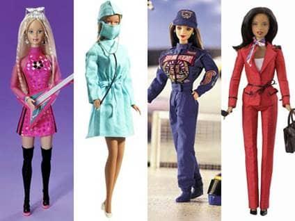 Barbie Careers Lead Singer Surgeon NASCAR Driver Presidential Candidate