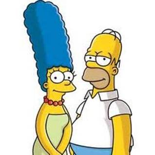 homer and marge simpson