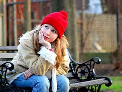 teenager reflecting on life