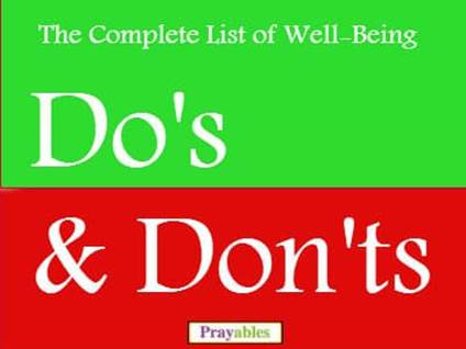 well being dos and donts